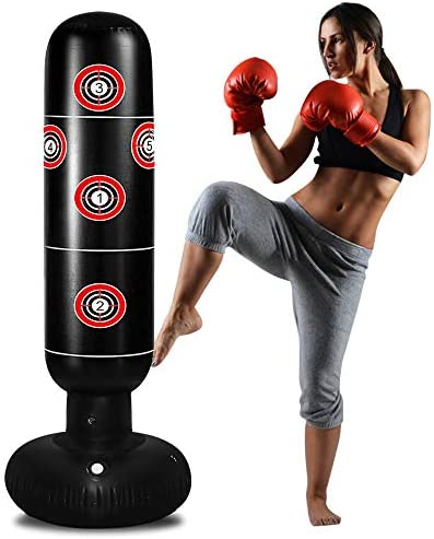 TUOWEI Punching Bag with Stand Inflatable Punching Bag for Kids 63Inch Freestanding Boxing Bag product image