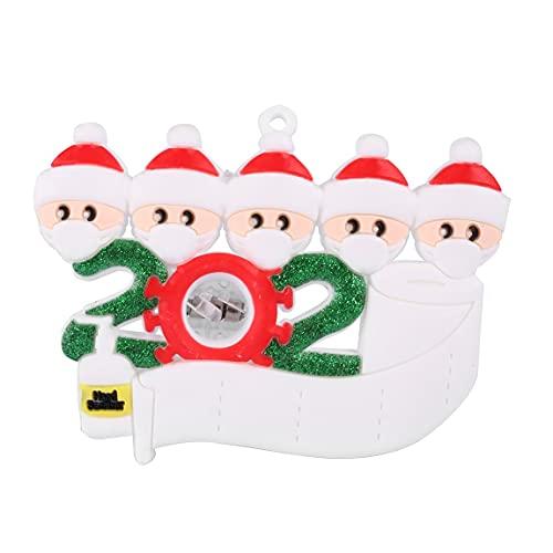 #N/V Led colorido luz Navidad ornamento 2020 Navidad colgante adornos creativo DIY nombre bendición colgante