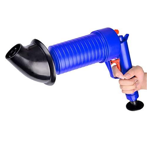 OurLeeme Abfluss-Reinigungswerkzeug, Luftdruck-Rohr-Reiniger Abfluss-Blaster-Wannen-Kolben-Öffner mit 4 Steckern für Bad-Toiletten, Badezimmer, Küche