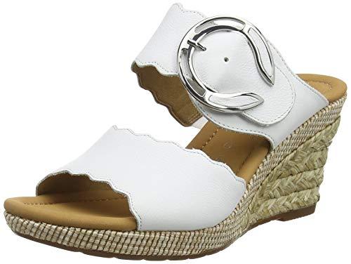 Gabor Shoes Damen Comfort Sport Pantoletten, Weiß (Weiss (Bast) 50), 38.5 EU