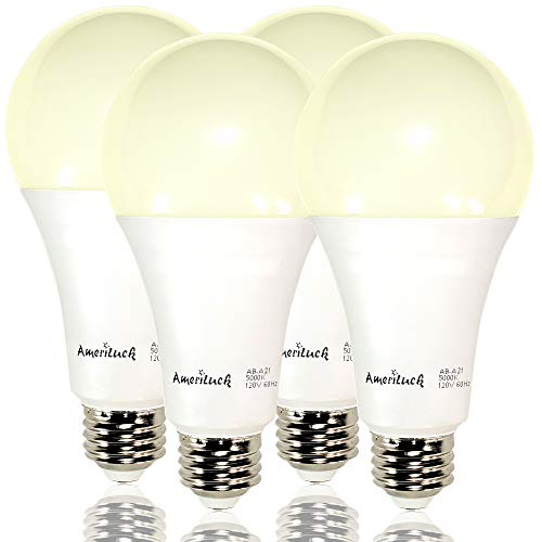 AmeriLuck 150W Equivalent A21 LED Light Bulbs, 2200Lumens 20W, Non-Dimmable (3000K Warm White 4 Pack)
