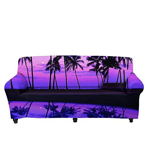 HXTSWGS Fundas de sofá elásticas,Funda de sofá elástica 3D, Funda de cojín de sofá con Estampado Crema-Color4_90-140cm