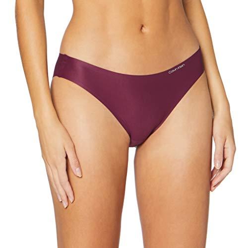 Calvin Klein Damen Bikini Bikinihose, Violett (Raisin Torte RT7), (Herstellergröße: Large)
