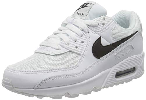 Nike Womens Air Max 90 Womens Running Casual Shoes Cq2560-101 Size 8 White/Black/White