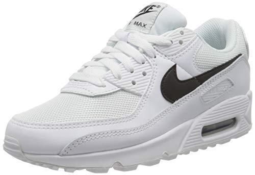 Nike Air Max 90, Scarpe da Corsa Donna, White/Black-White, 38 EU