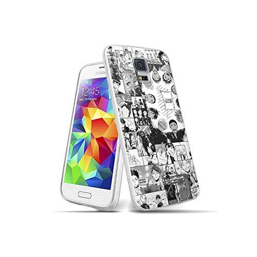 CBiBaMEi Samsung Galaxy S5 Funda, teléfonos móviles Carcasa Transparente Suave Silicona TPU Gel Ultra Fina Protección Funda para Samsung Galaxy S5#A009