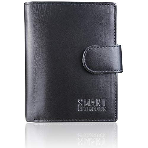 RFID Blocking Mens Wallet Leather - TÜV Certified 11 Card & Coin...