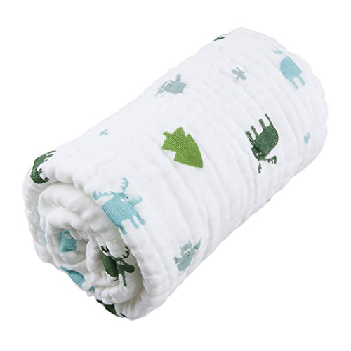 6 Layer Soft Muslin Cotton Swaddle Blanket Bath Towel for Newborn Baby Toddler Kids Muslin Swaddle Blanket Best for Shower Gift