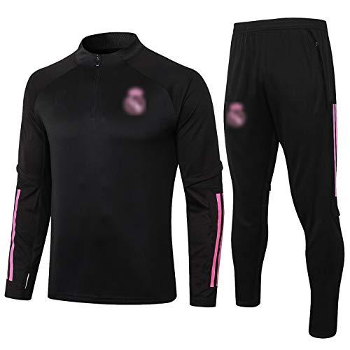 BVNGH Camiseta de fútbol del Real Madrid, 2021 New Season para hombre, manga larga, tejido transpirable y de secado rápido (S-XXL) L