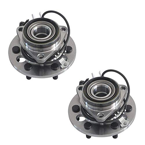 Detroit Axle - 4WD 6-Lug Complete Front Bearings & Hub Assembly Replacement for Cadillac Escalade Chevy GMC Yukon Tahoe K1500 K2500 Suburban - 2pc Set