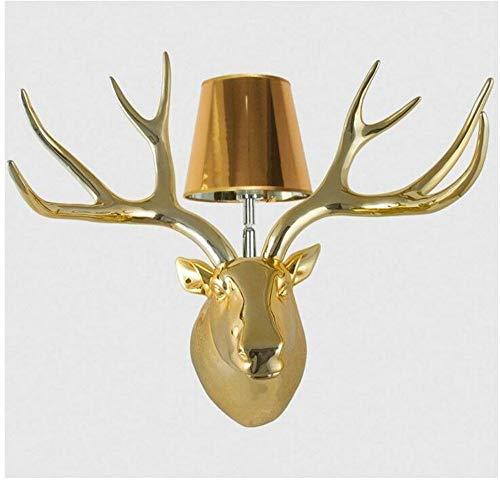 Hwhwxs Lampe Murale LED r/étro sculpt/é cerf Animaux Chambre Moderne Chambre d/éclairage cr/éatif Mural de Salon