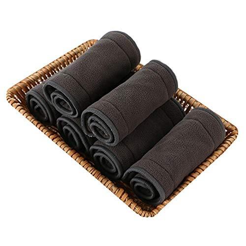 Janedream - Pañal lavable para adulto, tela de carbón de bambú, forro de pañal, superabsorbente, reutilizable, incontinencia