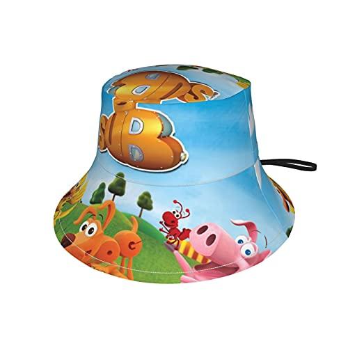 LoveOnHead - Berretto per bambini, con fascia per il mento regolabile, protezione solare per l'estate, per viaggi all'aperto, da pesca, Word World Nero L