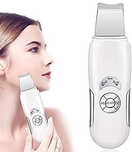 ZJDM Beauty Star Ultrasonic Face Cleaning Skin Scrubber Machine de Massage Facial Anion Skin Nettoyage en Profondeur Peeling Face Lift Scrubber (Couleur: Prise UK)