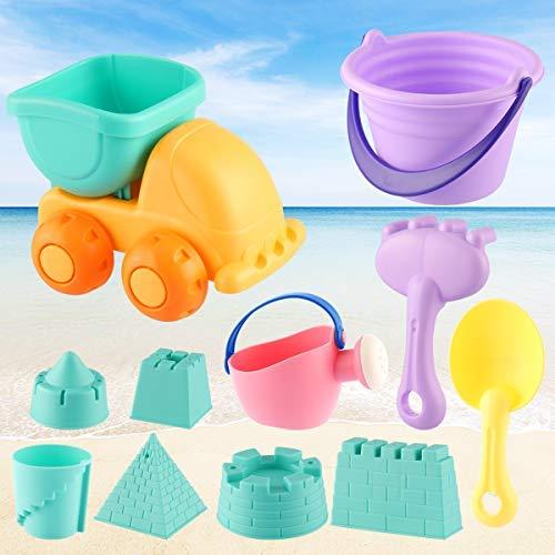 ele ELEOPTION Kinder Sandspielzeug Set,11pcs Strandspielzeug inkl....