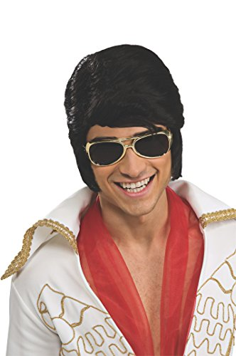 Rubie's Elvis Presley Wig and Glasses Costume Accessories | Adult Gold