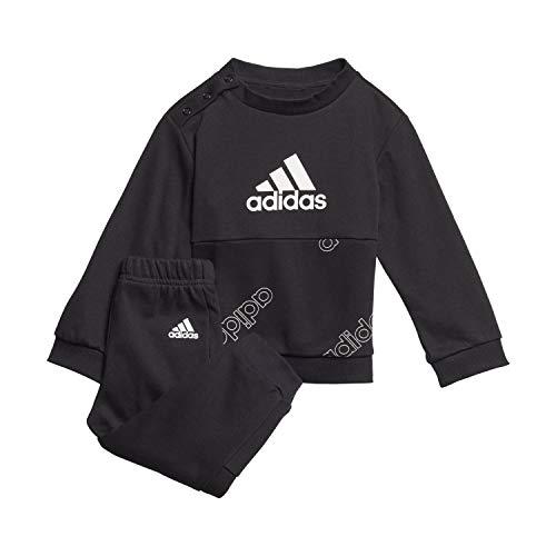 adidas I FAV Jog Set Chándal, Unisex bebé, Negro/Blanco, 80 (9/12 Meses)