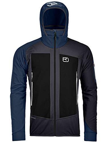 ORTOVOX Mens Col Becchei Shell Jacket, Black Raven, L