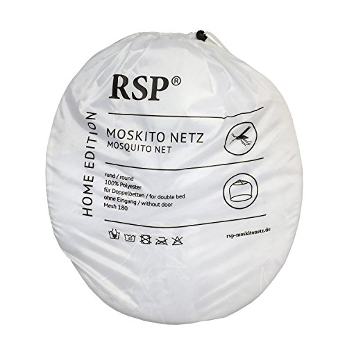 RSP - Mosquitera XXL para camas dobles (15,5 m de circunferencia, 3 m de altura), color blanco