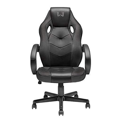 Cadeira Gamer com Função Basculante 15° Suporta Até 120 kg, Warrior, GA182, Acessórios para Computador, Preta