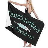 Vaccinated For Covid-9 Toalla De BañO Unisex SúPer Suave, SúPer Absorbente Y De Secado RáPido, Viaje, Playa, Toalla De BañO De Fitness. (31 * 51 Pulgadas / 80 * 130 Cm
