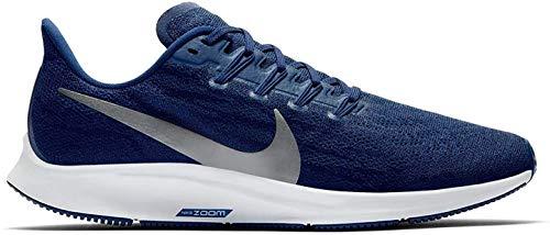 Nike Air Zoom Pegasus 36, Zapatillas de Atletismo para Hombre, Multicolor (Blue Void/Metallic Silver/Coastal Blue 401), 42.5 EU