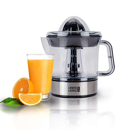 Exprimidor eléctrico automático para zumo de limón, naranja, frutas y alimentos   Jarra vaso y colador de plástico   Acero inoxidable   Para cocina de chef profesional   Limpia, fácil uso   LEBENLANG