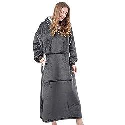 top rated Large HBlife blanket sweatshirt for adults, wool blanket sweatshirt with sleeves, … 2021
