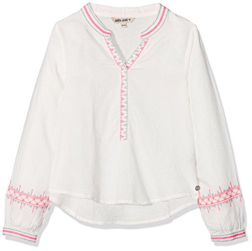 Garcia Kids Mädchen N82632 Bluse, Weiß (Off White 53), 152 (Herstellergröße: 152/158)