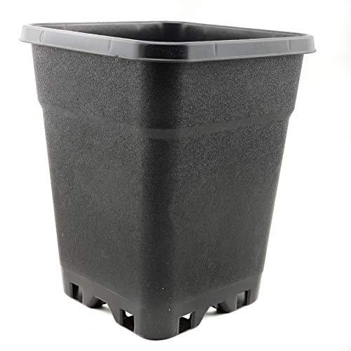 Maceta cuadrada negra 7 L