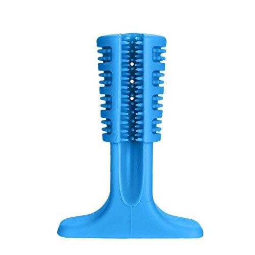 Mascotas Cepillo de dientes de perro Cepillo de dientes de perro Cepillo dental Limpieza Cepillos mordedura Masticables Juguete para Pooch Hound, azul, L