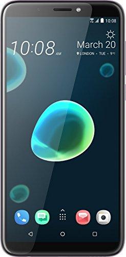 HTC Desire 12+ Smartphone (15,2 cm (6 Zoll) HD+ IPS-Display, 32GB interner Speicher und 3GB RAM, Dual-SIM, Android 8) Warm Silver