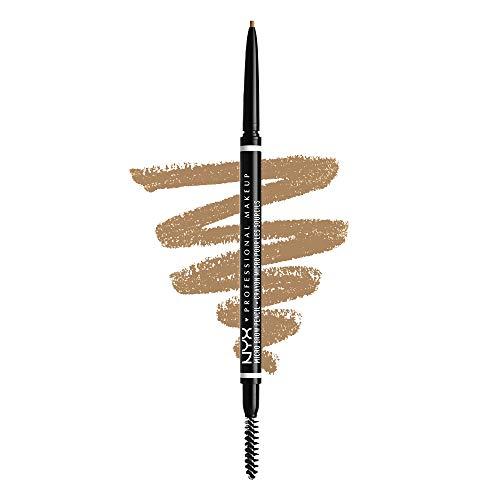 NYX Professional Makeup Augenbrauenstift, Micro Brow Pencil, Beidseitig mit ausdrehbarem Augenbrauenstift und Bürstchen, Vegane Formel, Farbton: Blonde