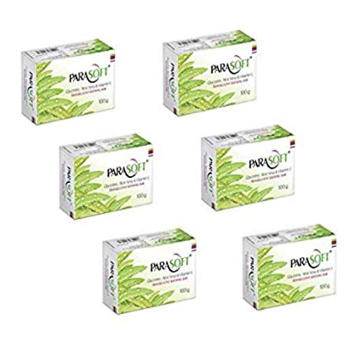 Parasoft Soap For Dry Skin With Goodness of Aloe Vera, Glycerine & Vitamin E Moisturising Bathing Bar For Hands And Body- 100gm (Pack of 6)
