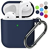 Marge Plus for Airpods Case Cover with Keychain, Silicone Skin Cover for Women Men Compatible with Apple Airpods 2/1 Charging Case (Front LED Visible)