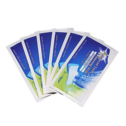 KKmoon Toalhetes clareadores de dentes com 6 peças de escova de dentes Toalhetes ferramenta de clareamento dental para limpeza profunda oral