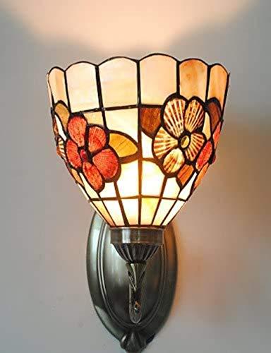Antieke Inspired wandlamp in Tiffany Style - gebloemd