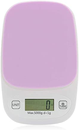 Digital Kitchen Multifunction Food Scale, 22Lbs/5Kg Precision Digital Scales, Kitchen Scales Digital Weight Grams and Ounces 0.1G, with Large LCD Display,Purple