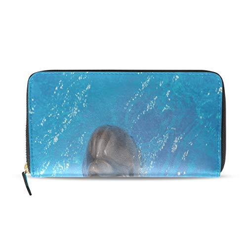 Dolphin Ocean Friend Lange Passport Clutch Geldbörsen Reißverschluss Brieftasche Fall Handtasche Geld Organizer Tasche Kreditkarteninhaber Für Dame Frauen Mädchen Männer Reisegeschenk
