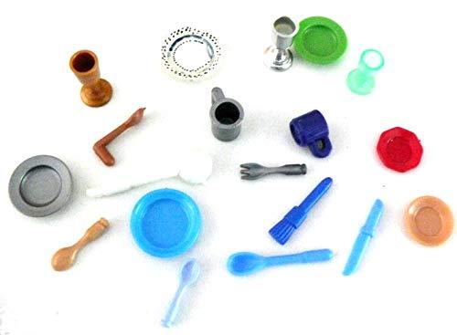 playmobil ® - 20 Teile für Küche - Tassen Teller Messer Pokal Kette Backpinsel