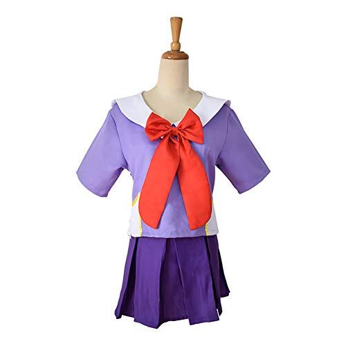LJLis Das Zukunftstagebuch Gasai Yuno Set 2. Cosplay Kostüm Mirai Nikki Top & Rock Schuluniform Anzug,XL
