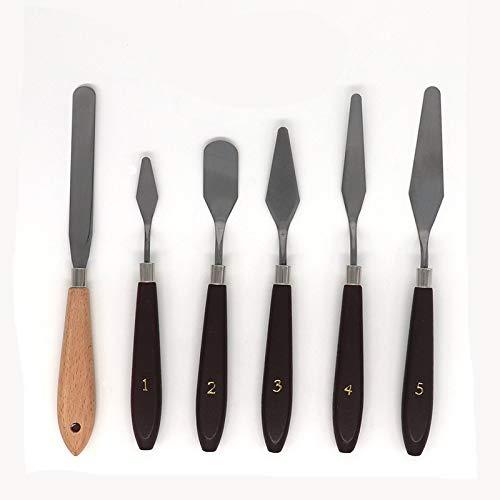 盛世汇众 3D Print Removal Tools with Natural Sturdy Wooden Handle, Tool Kit for 3D Printer Spatula Palette Knife, 6 Pack