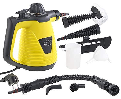 Sichler Haushaltsgeräte Handdampfreiniger: Tragbarer Dampfreiniger mit großem Zubehör-Pack, 1.000 W (Dampfente)
