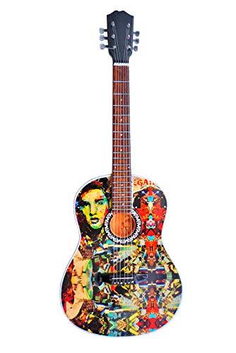 Elvis Presley Tribute Acoustic Miniature Guitar Replica