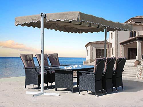QUICK STAR Standmarkise 3,75x2,25m Terrassenüberdachung Dubai Sand