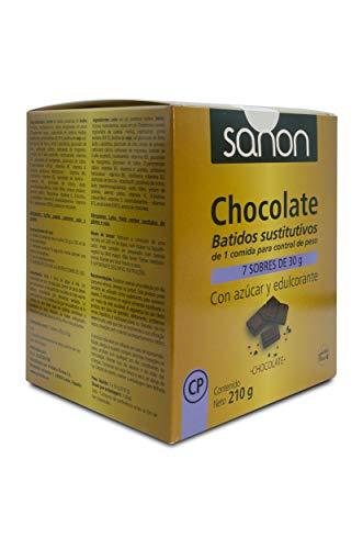 SANON Batido Sustitutivo Sabor Chocolate 7 Sobres De 30 Gr, One size, 100 ml
