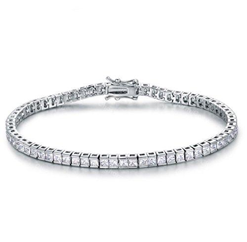 JZHJJ - Pulsera de Pareja clásica Simple y Elegante con Diamantes Cuadrados...