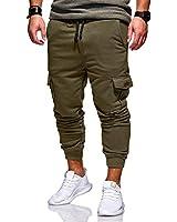 lexiart Mens Fashion Sports Pants - Mens Jogger Cargo Pants Sweatpants Trousers Long Pants Green