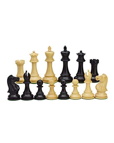 ROOGU Old English Series 3.5'' Staunton Schachfiguren Set KH 9cm. 2 Damen extra.