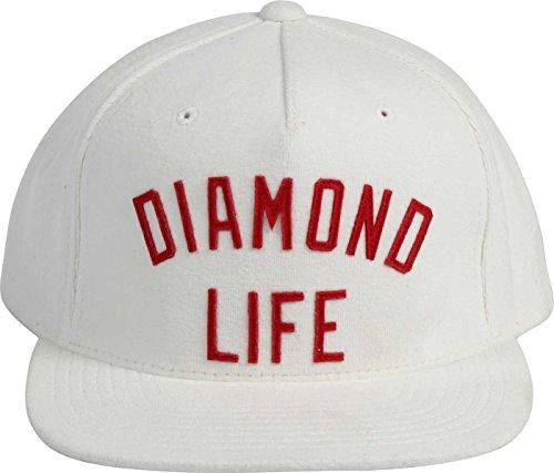 Diamond Supply Co. - - Diamond Arche Snapback Hat pour hommes, O/S, White